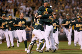 Oakland, CA - October 1: Oakland Athletics v Texas Ranger - Celebration Photographic Print by Ezra Shaw