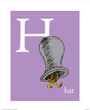 H is for Hat (purple) Prints by Theodor (Dr. Seuss) Geisel