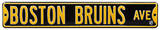 Boston Bruins Ave Steel Sign Wall Sign