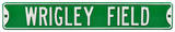 Wrigley Field Green Steel Sign Wall Sign