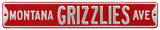 Montana Grizzlies Ave Steel Sign Wall Sign