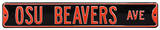 OSU Beavers Ave Steel Sign Wall Sign