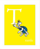 T is for Turtle (yellow) Posters by Theodor (Dr. Seuss) Geisel