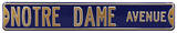 Notre Dame Avenue Navy Steel Sign Wall Sign