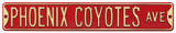 Phoenix Coyotes Ave Steel Sign Wall Sign