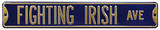 Fighting Irish Ave Navy Steel Sign Wall Sign