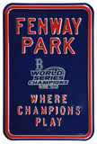 Fenway Park Champions Play Parking Steel Sign Wall Sign