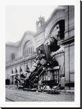 Train Accident at the Gare Montparnasse, Paris, 1895 Reproducción en lienzo de la lámina