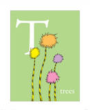 T is for Trees (green) Art by Theodor (Dr. Seuss) Geisel