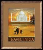 Travel India Poster van Kem Mcnair