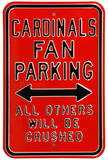 Cardinals Crushed Parking Louisville Steel Sign Wall Sign
