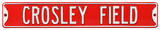 Crosley Field Cincinnati Reds Steel Sign Wall Sign