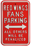 Red Wings Penalized Parking Steel Sign Wall Sign