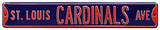 St Louis Cardinals Ave Navy Steel Sign Wall Sign