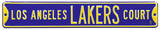 Los Angeles Lakers Ct purple Steel Sign Wall Sign