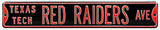 Texas Tech Red Raiders Ave Steel Sign Wall Sign
