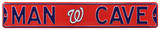 Man Cave Washington Nationals Steel Sign Wall Sign