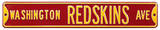 Washington Redskins Ave Steel Sign Wall Sign