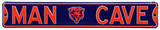 Man Cave Chicago Bears Steel Sign Wall Sign