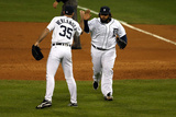 Detroit, MI - October 16: Detroit Tigers v New York Yankees - Justin Verlander and Prince Fielder Photographic Print by Leon Halip