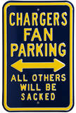 Chargers Sacked Parking Steel Sign Wall Sign