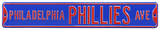 Philadelphia Phillies Ave Blue Steel Sign Wall Sign