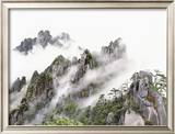 Mist Over Sanqing Mountain in China Framed Photographic Print by Wong Adam