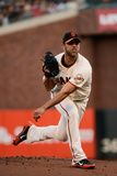 San Francisco, CA - October 14: San Francisco Giants v St. Louis Cardinals - Madison Bumgarner Photographic Print by Thearon W. Henderson