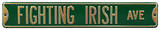Fighting Irish Ave Green Steel Sign Wall Sign