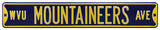 WVU Mountaineers Ave Steel Sign Wall Sign