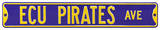 ECU Pirates Ave Steel Sign Wall Sign