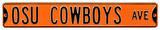 OSU Cowboys Ave Orange Steel Sign Wall Sign