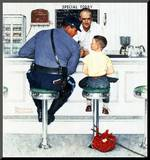 """Runaway"", September 20,1958 Mounted Print by Norman Rockwell"