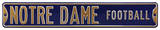 Notre Dame Football Steel Sign Wall Sign