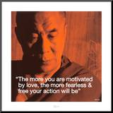 Dalai Lama: Fearless &amp; Free Mounted Print