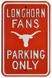 Longhorn Fans Parking Bevo Logo Steel Sign Wall Sign