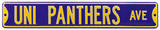 UNI Panthers Ave Steel Sign Wall Sign