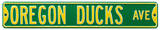Oregon Ducks Ave Green Steel Sign Wall Sign