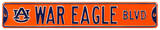 War Eagle Blvd Auburn Steel Sign Wall Sign