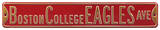 Boston College Eagles Ave Steel Sign Wall Sign
