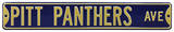 Pitt Panthers Ave Steel Sign Wall Sign