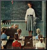 """Happy Birthday, Miss Jones"", March 17,1956 Mounted Print by Norman Rockwell"