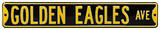 Golden Eagles Ave Steel Sign Wall Sign