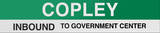 Copley Boston/Green Line Sign Wall Sign
