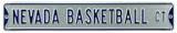 Nevada Basketball Steel Sign Wall Sign