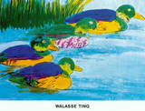 Four Ducks Poster by Walasse Ting