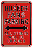 Husker Crushed Parking Steel Sign Wall Sign
