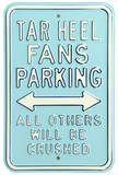 Tar Heels Crushed Parking Steel Sign Wall Sign