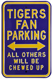 LSU Tigers Chewed Up Parking Steel Sign Wall Sign