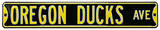 Oregon Ducks Ave Black Steel Sign Wall Sign